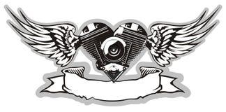 2 motorheart向量 免版税库存图片