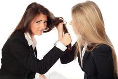 2 mulheres de negócios bonitas novas Foto de Stock Royalty Free