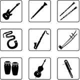2 musikaliska instrument Arkivbild