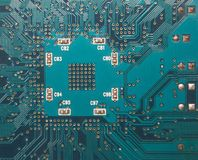 2, Nahaufnahme des elektronischen Kreisläufs. Stockfoto