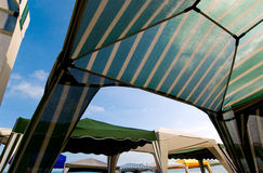 2 namiotu na plaży Fotografia Royalty Free