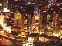 2 natt shanghai Arkivbilder