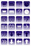 2 niebieska ikon ciemnej sieci Zdjęcia Stock