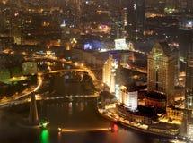 2 noc Shanghai Fotografia Stock