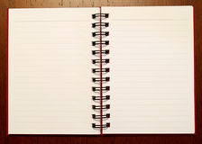 2 notebook1开张页 库存照片