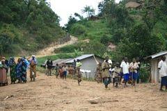 2 Nov. 2008. Vluchtelingen van DR. de Kongo Royalty-vrije Stock Foto's