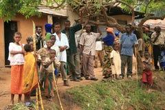 2 Nov. 2008. Vluchtelingen van DR. de Kongo Royalty-vrije Stock Foto