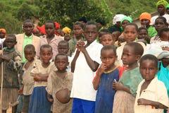 2 Nov. 2008. Vluchtelingen van DR. de Kongo Stock Fotografie