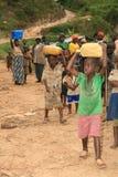 2 Nov. 2008. Vluchtelingen van DR. de Kongo Stock Foto