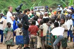 2 Nov. 2008. Vluchtelingen van DR. de Kongo Royalty-vrije Stock Afbeeldingen