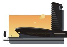 2 nowoczesnej architektury ilustracja wektor