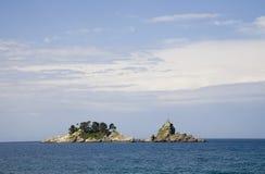 2 obebodda öar Arkivbilder