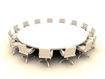 2 okrągłego stołu Zdjęcie Royalty Free