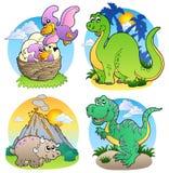 2 olika dinosaurbilder Royaltyfri Bild