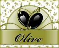 2 olive etiketter Arkivfoton