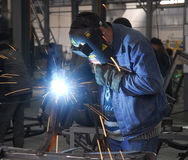 2 operator welding Στοκ εικόνα με δικαίωμα ελεύθερης χρήσης