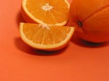 2 orange apelsiner Fotografering för Bildbyråer