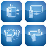 2.os ajustado iconos del cobalto fijados: Hotel Fotos de archivo libres de regalías