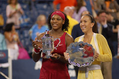 2 otwarte 2008 Serena Williams jelena jankovic nas Fotografia Royalty Free