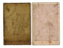 2 oude foto's Stock Afbeeldingen