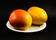 2 owoce mango Obrazy Stock