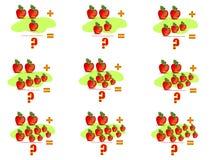 2 påfyllande cdr som lärer mathvektorn royaltyfri illustrationer