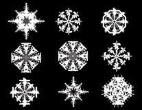 2 płatka śniegu Zdjęcia Royalty Free