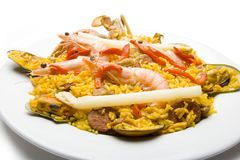 2 paella ισπανικά Στοκ φωτογραφία με δικαίωμα ελεύθερης χρήσης