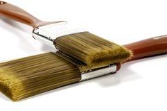 2 paintbrushes Royaltyfria Bilder