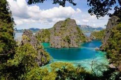 2 palawan的盐水湖 免版税库存照片