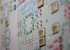 2 panel kontrolna stara stacja kosmiczna Obrazy Royalty Free