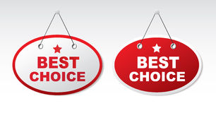 2 panels with text - Best choice Royalty Free Stock Photo