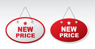 2 panels with text - new price Stock Photography