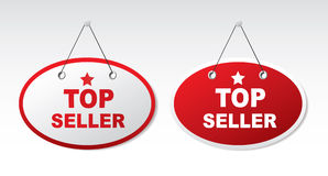 2 panels with text - Top seller Stock Photo
