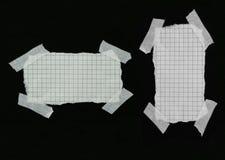 2 paper pieces plaster squared strip white Στοκ εικόνες με δικαίωμα ελεύθερης χρήσης