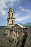 2 parangaricutiro废墟 库存图片