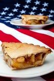 2 pc del grafico a torta di mela sul Americ Fotografie Stock Libere da Diritti