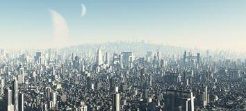 2 pejzaż miejski futurystyczny ilustracja wektor