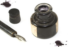 2 a penna ed inchiostro Fotografia Stock