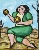 2 Pentacles Royalty Free Stock Photo