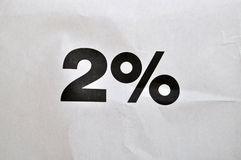 2 percent. The photo of 2 percent Royalty Free Stock Images