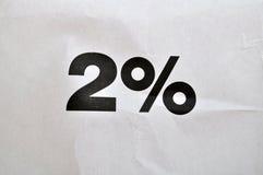2 percenten Royalty-vrije Stock Afbeeldingen