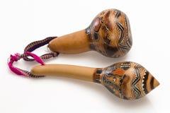 2 peruanska maracas Royaltyfri Fotografi