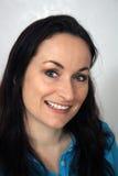 2 pięknej brunetki życzliwy headshot Obrazy Royalty Free