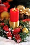 2 piłki candle boże narodzenia Zdjęcie Stock