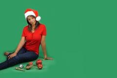 2 piękny pomagier s Santa Fotografia Royalty Free