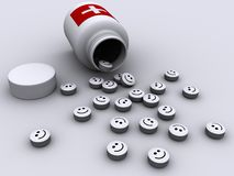 2 pills royaltyfri illustrationer