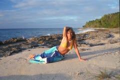 2 plażowy croix dziewczyny st fotografia royalty free