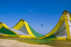 2 plaży latawca surfingu zdjęcia royalty free