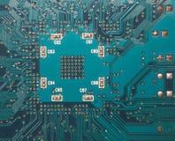 2, plan rapproché de circuit électronique. Photo stock